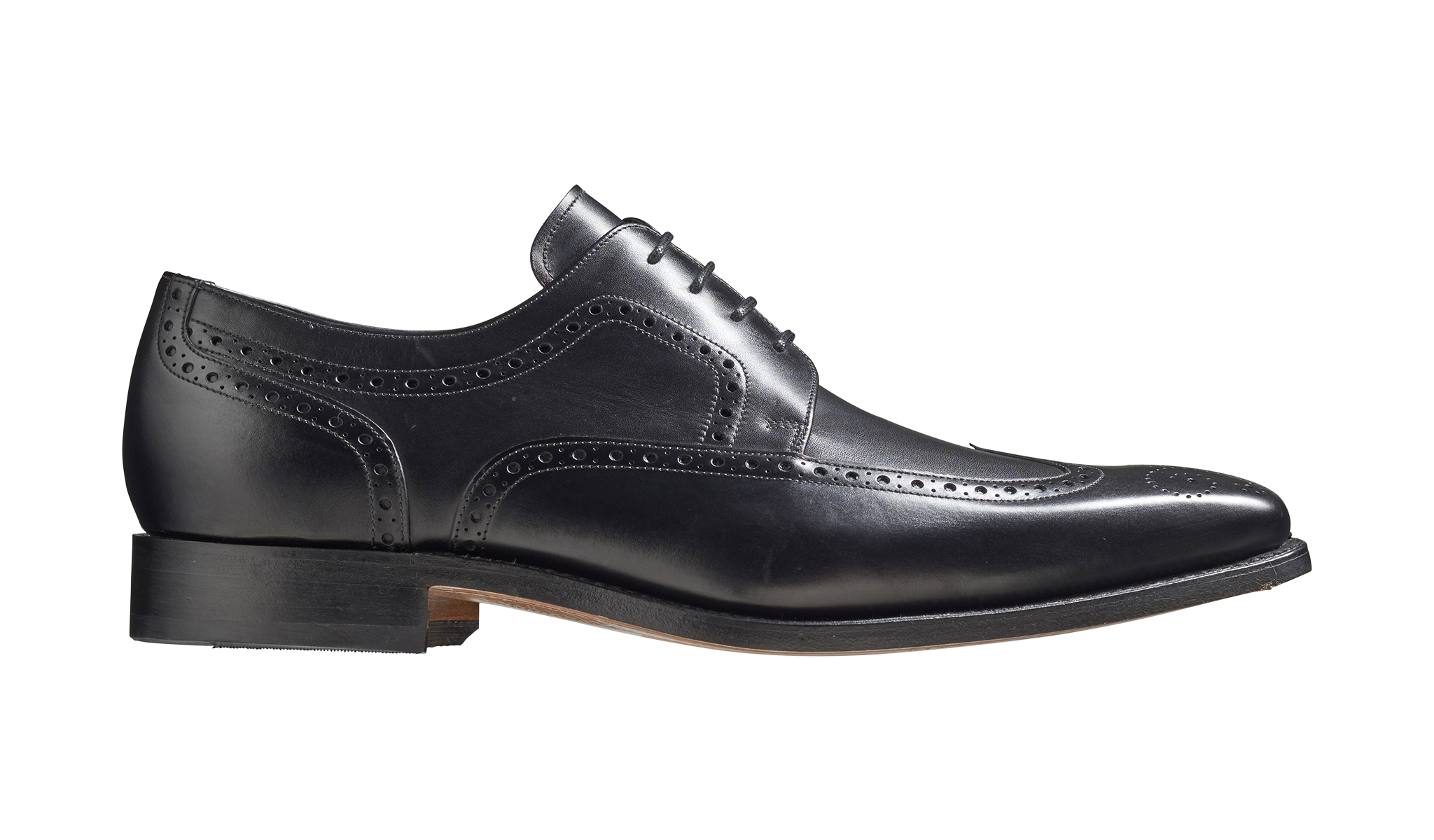 Barker Larry Brogue Derby - Black Calf