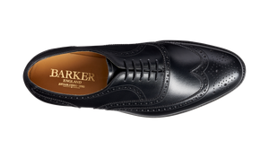 Barker Malton Brogue - Black Calf