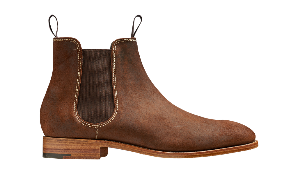 Barker Mansfield Chelsea Boots - Brown Waxy Suede