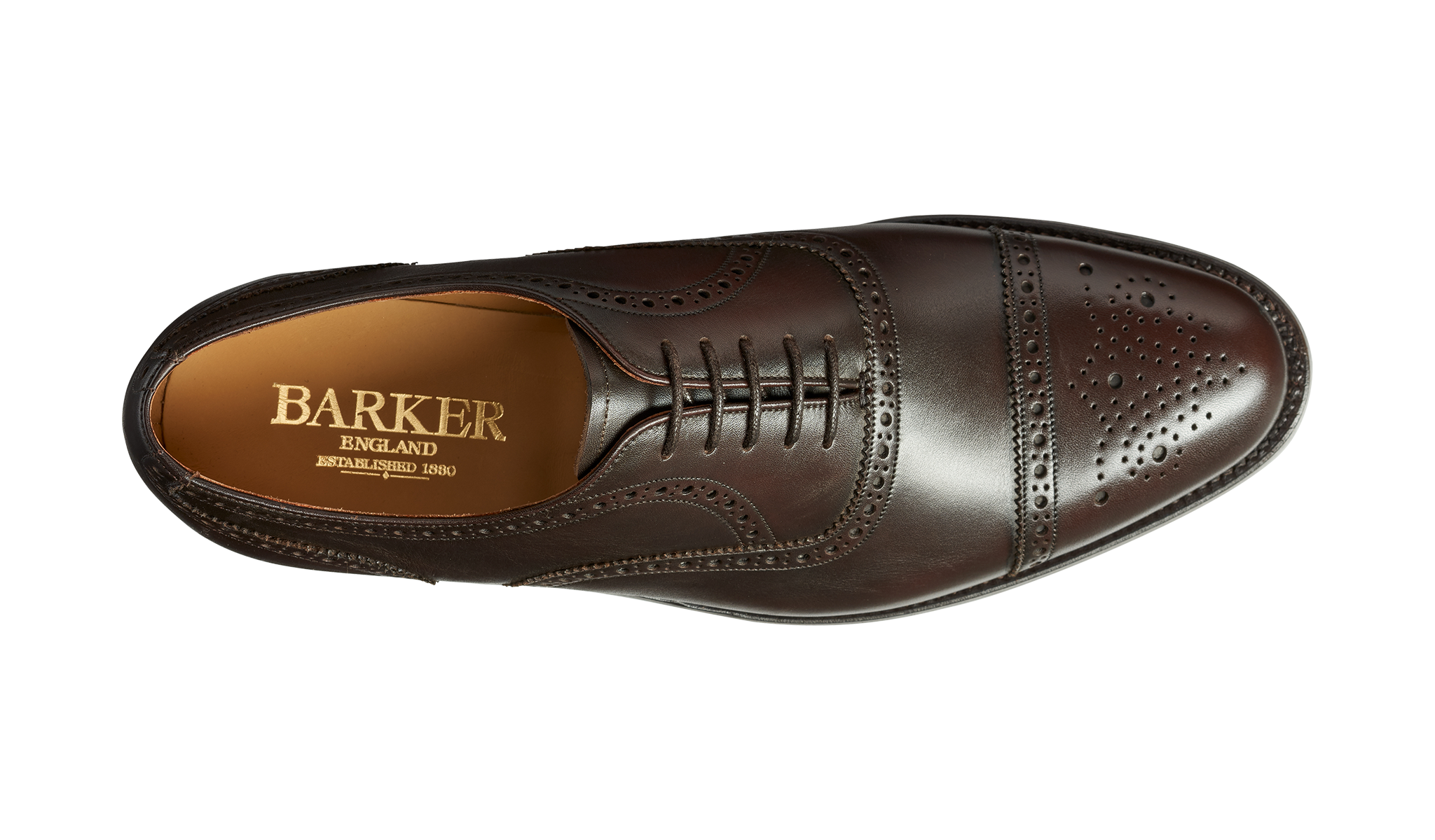 Barker Mirfield Oxford Semi Brogue - Espresso Calf