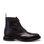 NPS Heath 6 Eye Derby Boots - Black