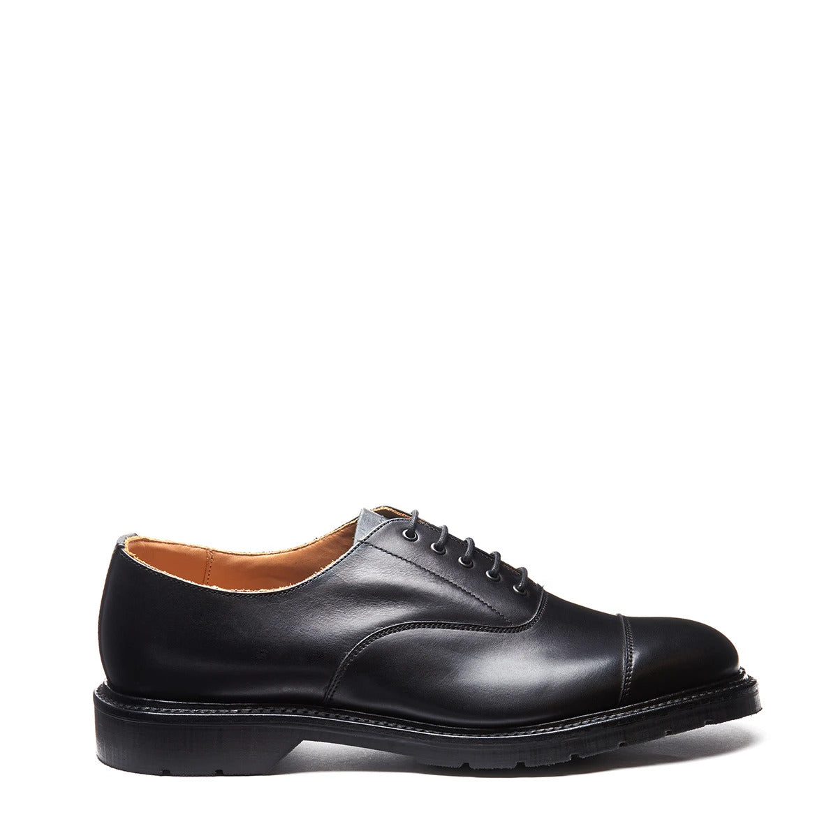 Solovair Capped Oxford Shoe - Black Calf