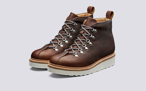 Grenson Bobby Boots - Brown Oil