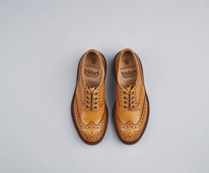 Tricker's Bourton Acorn Brogue Shoes - Brown