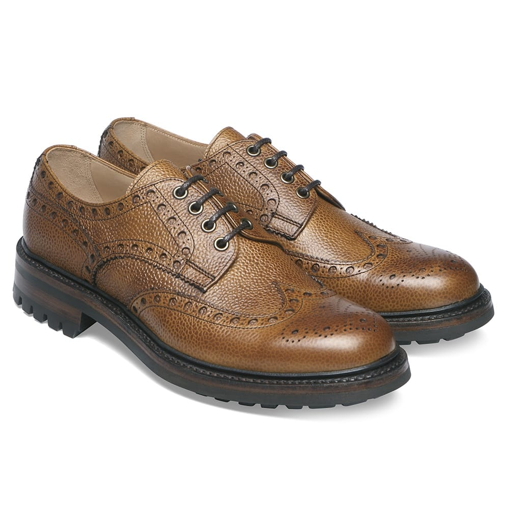 Cheaney Avon C Derby Brogue - Almond Grain