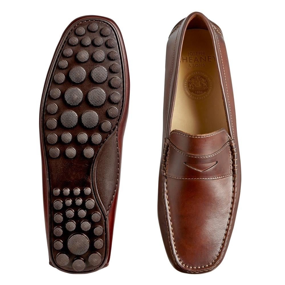 Cheaney Donnington Driving Moccasin - Sienna Calf