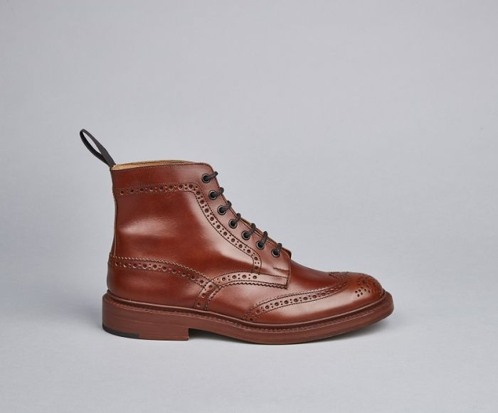 Tricker's Stow Marron Country Brogue Boots - Brown