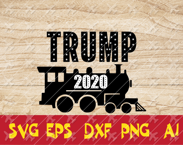 Trump 2020 Make America Great Again Election 2020 American Flag Text Silhouette Cameo SVG Cutting File Cricut Digital Download