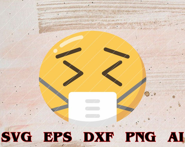 Face Medical Mask Emojis Surgical Health St. Patrick's Day svg,png dxf, ai file