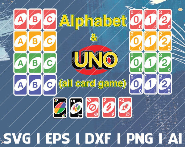 UNO Bundle SVG, png, Uno Birthday, Uno print, Uno Vector, Uno Party, Silhouette, Cricut, Design, Digital, Cut Files