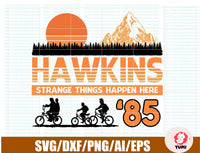 Hawkins Middle School svg, Stranger Things Inspired svg, Upside Down ,dxf,png