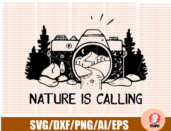 Nature Is Calling SVG, Picture Nature SVG, Photographer SVG, Hiking svg, dxf, eps, png