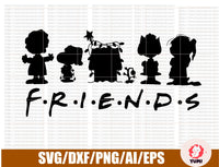 PEANUTS SNOOPY & Charlie Brown FRIENDS Holiday Digital Download | cricut silhouette | svg dxf png jpg eps