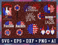 4th of july svg Bundle, Independence day decorations cut files, American flag USA Mandala Sunflowers png, Face mask svg designs, Png Pdf