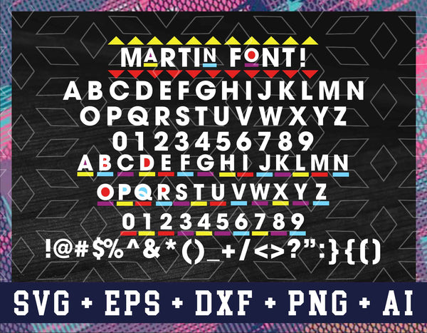 MARTIN FONT SVG, Martin Tv Show, Silhouette Cut File For Cutting Machine, African Font, Individual Letters, Martin Font, Svg File For Cricut