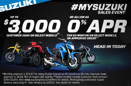 The #MYSUZUKI Sales Event