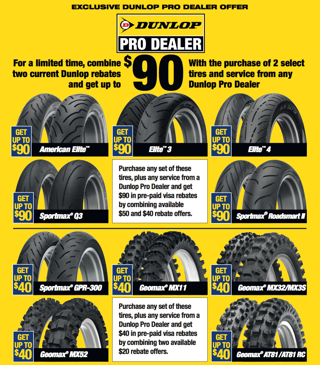 Double Dip with Dunlop Tire Rebates