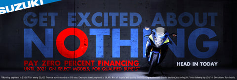 "Suzuki ""Get Excited About Nothing"" Promotion - 0%"