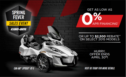 Can-Am Spyder Spring Fever Sales Event - Kissimmee Dealer - Central Florida PowerSports