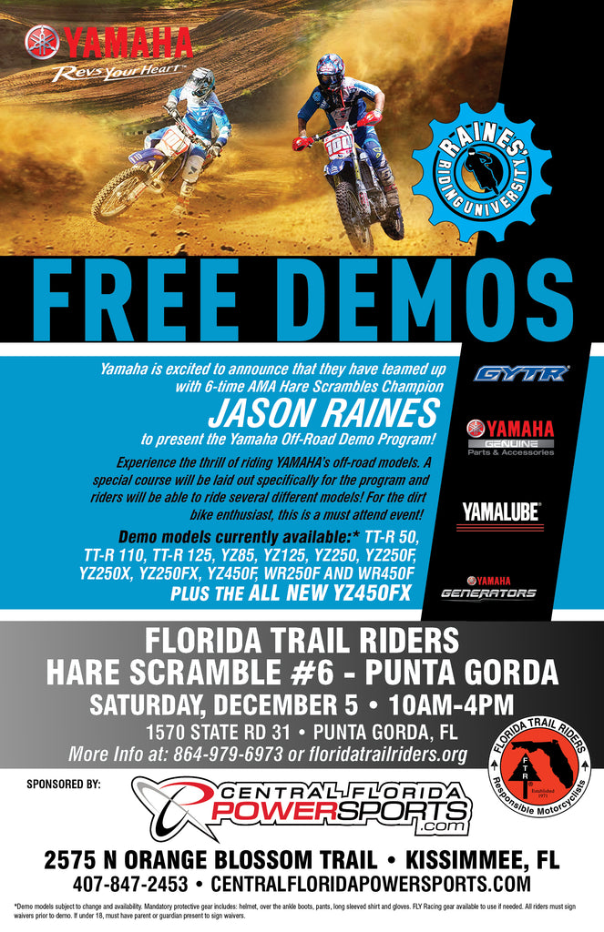 Yamaha Off-Road Demo Day Flyer