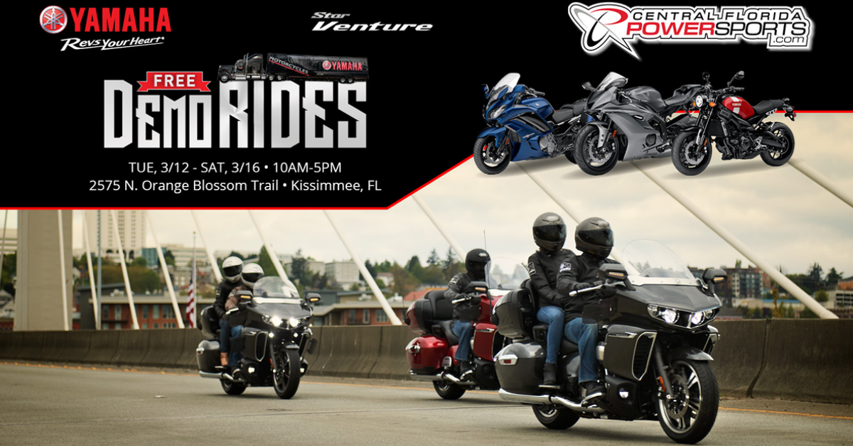 The Yamaha Truck Is Coming! Demo Rides 3/12-3/16! - Central