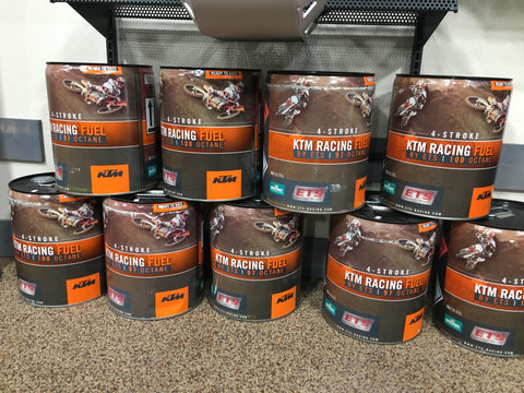 97 and 100 Octane KTM ETS Racing Fuel For Sale - Central Florida Powersports - Kissimmee