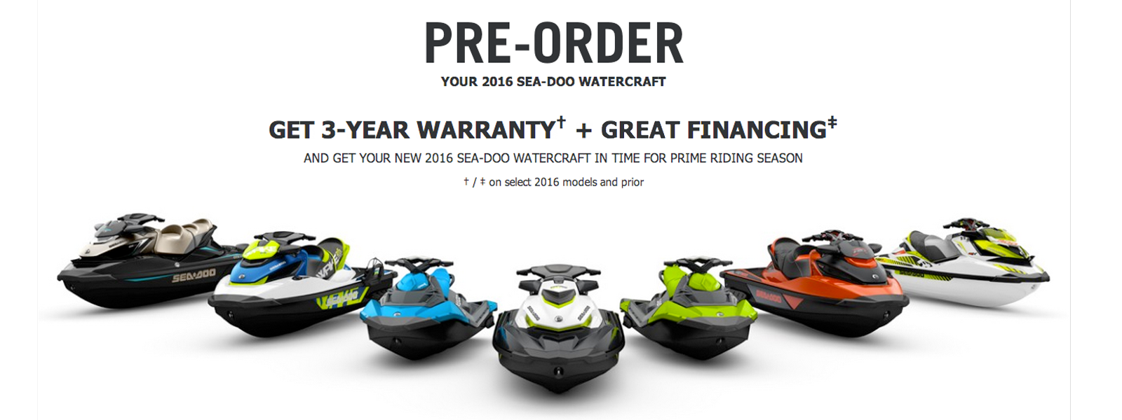 Sea-Doo OEM Promotion - Kissimmee Sea-Doo Personal Watercraft PWC Dealer
