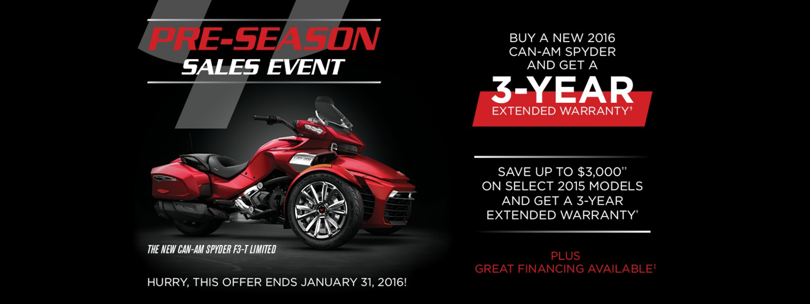 Can-Am Spyder OEM Promotion - Kissimmee Can-Am Spyder Dealer