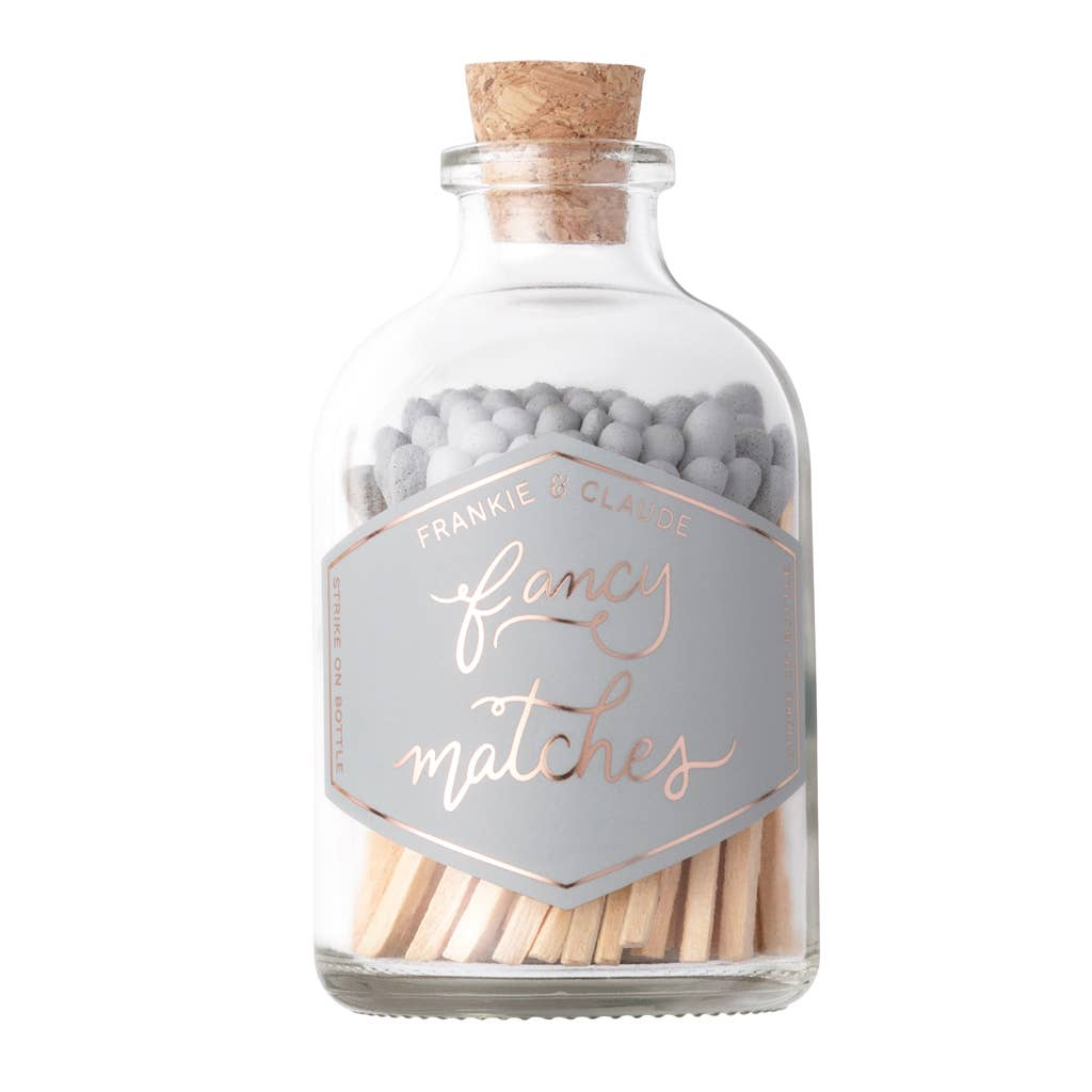Fancy Matches: Gray Small Match Jar