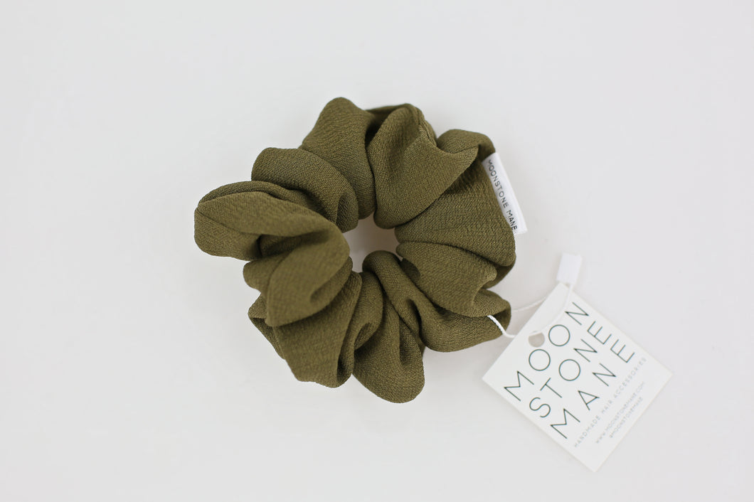 Olive Green Scrunchie
