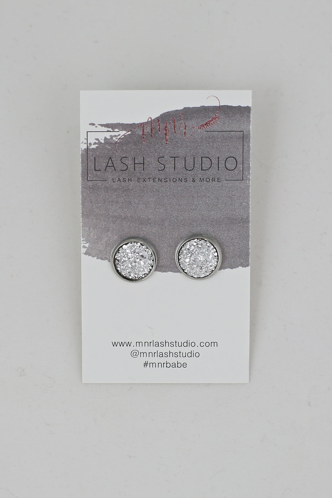 Light Silver Stud Earrings