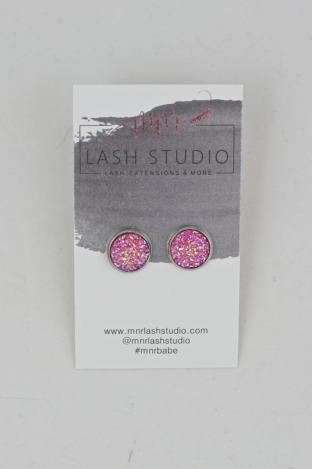 Light Pink Stud Earrings