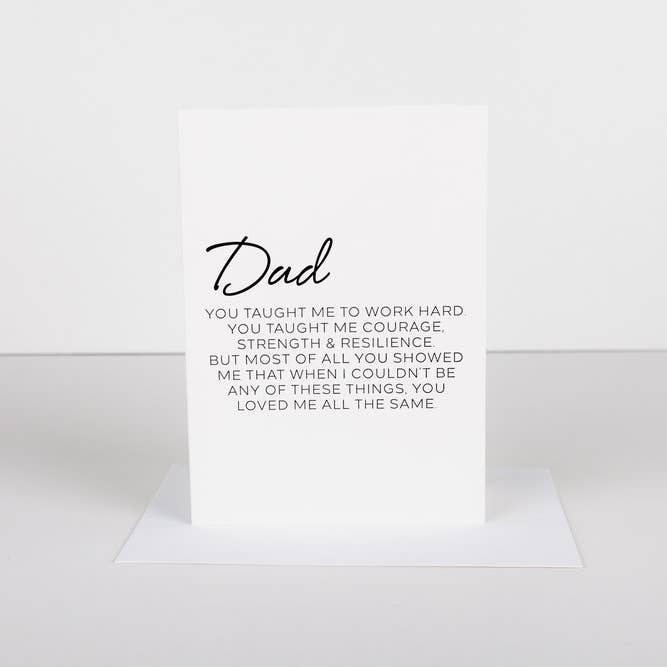 Letter To Dad Greeting Card