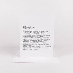 Letter To Brother Greeting Card