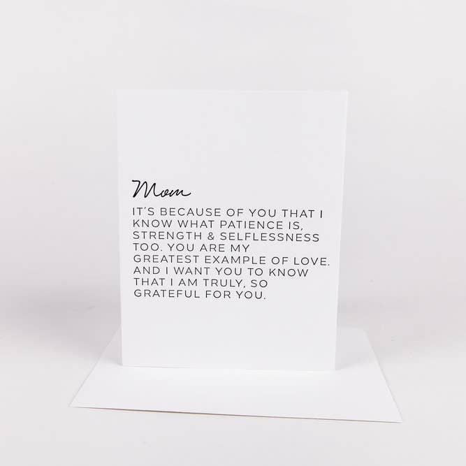 Letter To Mom Greeting Card