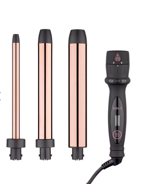 3-in-1 Curling Wand With Extended Barrels