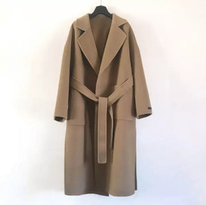 Brown Cashmere Long Coat