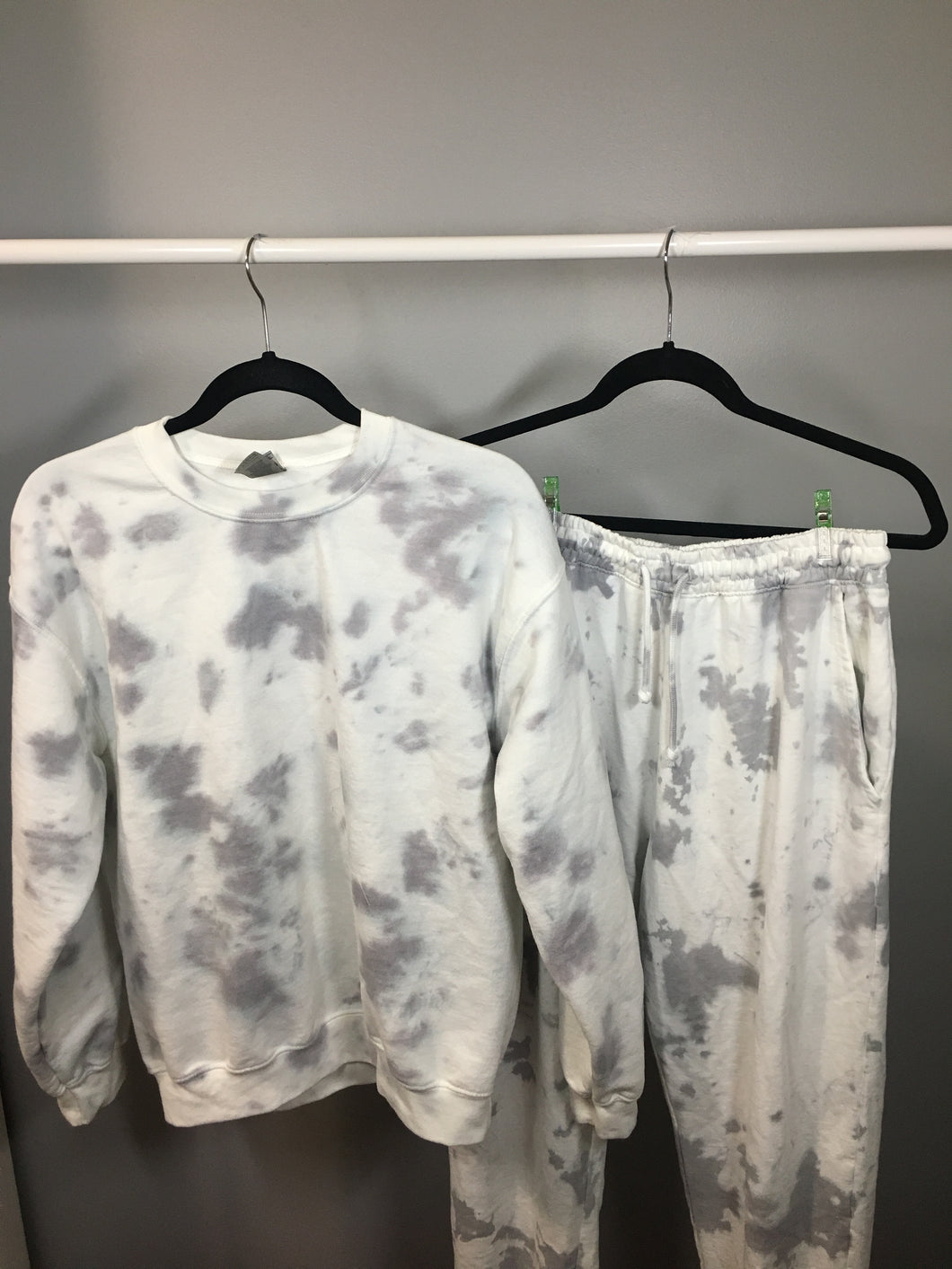 Grey Tie Dye Set Medium