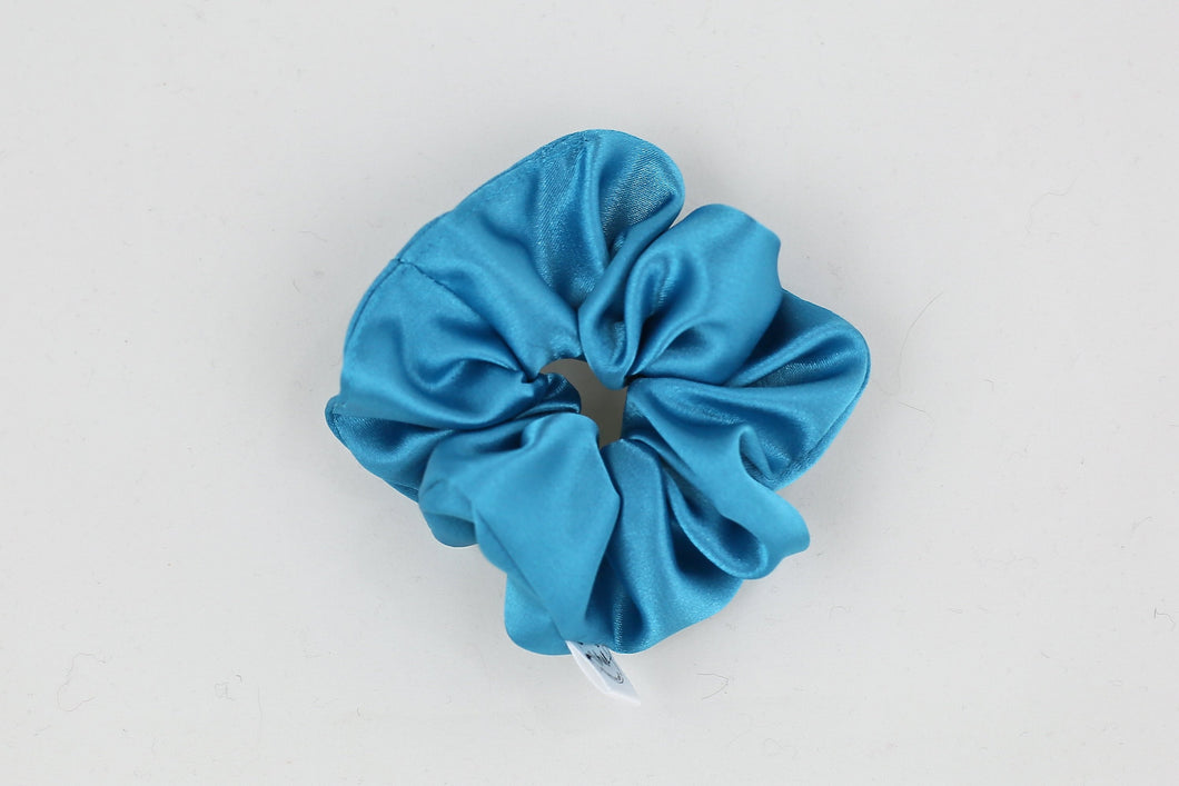 Azure Satin Mini Scrunchie