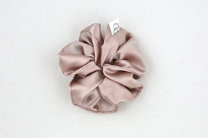 Champagne Satin Mini Scrunchie