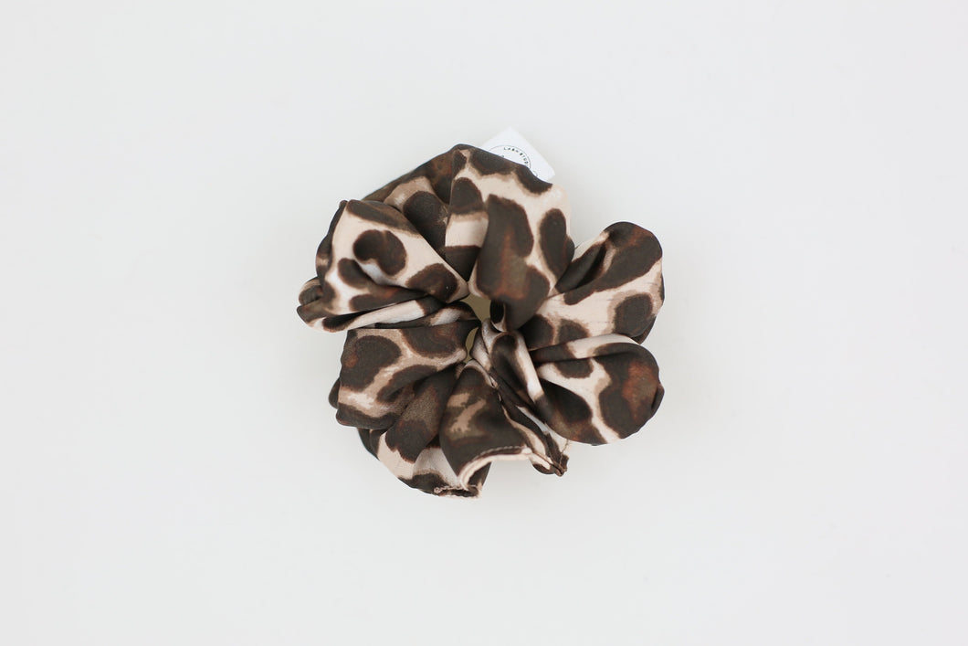 Cheetah Satin Mini Scrunchie