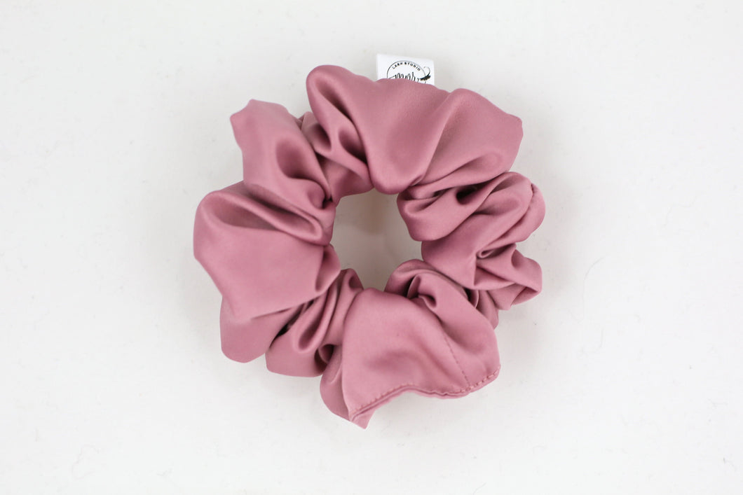 Mauve Satin Scrunchie