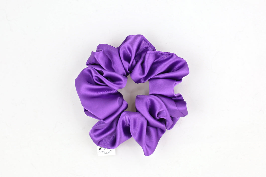 Violet Satin Scrunchie
