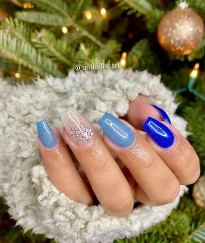 412 - Snowman, Style - Blue shimmer