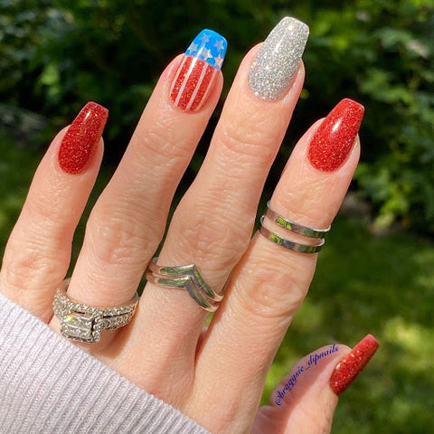 4th of July Themed Nail Design