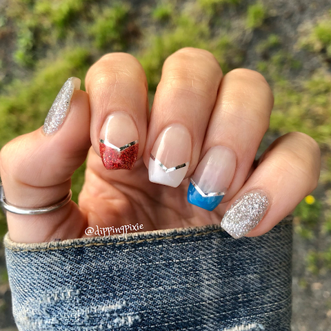 4th of July-Themed Nail Design