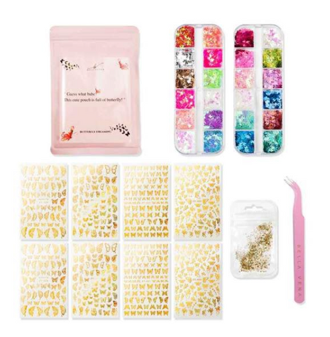 Butterfly Nail Decal Kit