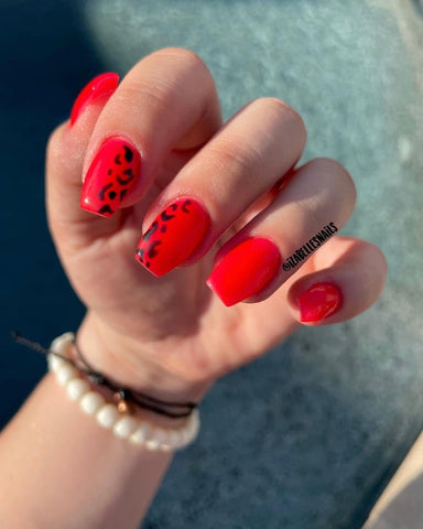 Bright Red Mani for summer