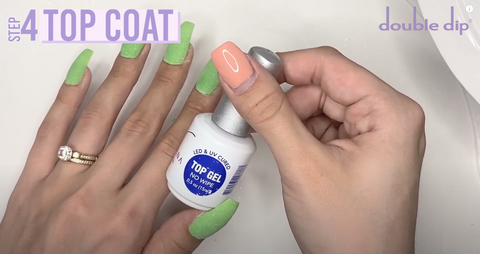Grab the No-wipe Gel Top Coat and apply another layer to all of your nails