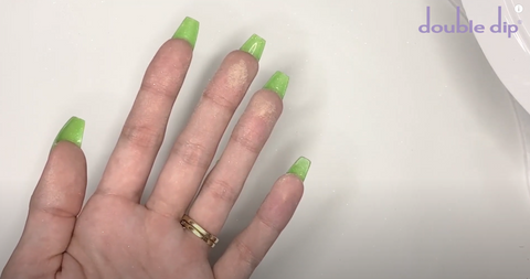 Flip your hand over first before curing your nails